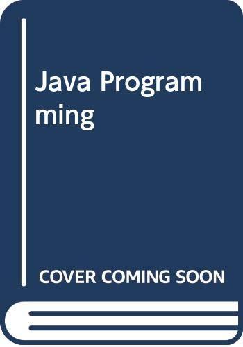 9780619215002: Java Programming, Second Edition