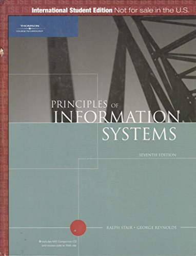 9780619215255: Principles of Information Systems