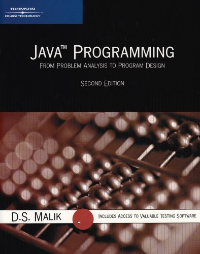 9780619216085: Java Programming: From Problem Analysis to Program Design, Second Edition