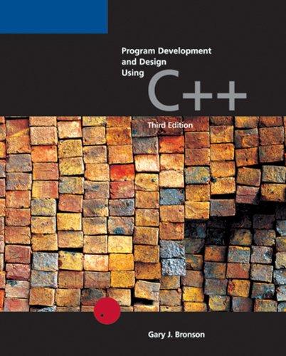 9780619216771: Program Development and Design Using C++