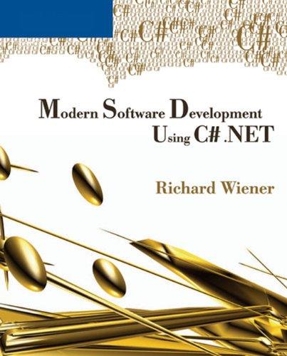 9780619217594: Modern Software Development Using C# .NET