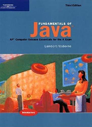 9780619243784: Fundamentals of Java: AP* Computer Science Essentials for the A Exam