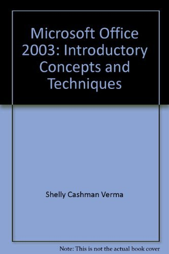 9780619254858: Microsoft Office 2003: Introductory Concepts And Techniques
