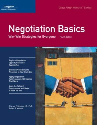 9780619259075: Negotiation Basics: Win-Win Strategies for Everyone (Crisp Fifty-Minute Series)