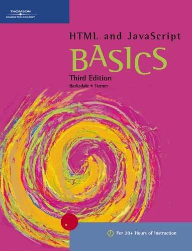 9780619266257: HTML and JavaScript BASICS (BASICS Series)
