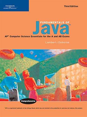 9780619267230: Fundamentals of Java: AP* Computer Science Essentials for the A & AB Exams
