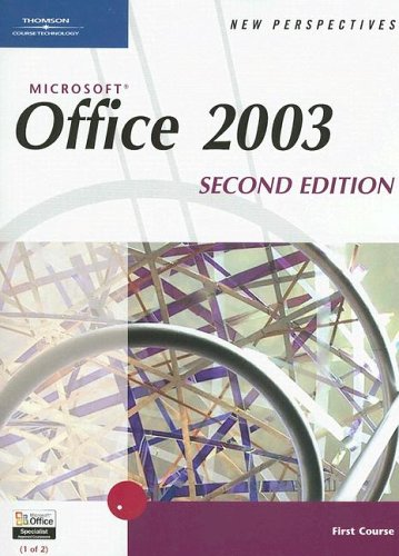 9780619268084: New Perspectives on Microsoft Office 2003, First Course, Second Edition (New Perspectives (Course Technology Paperback))