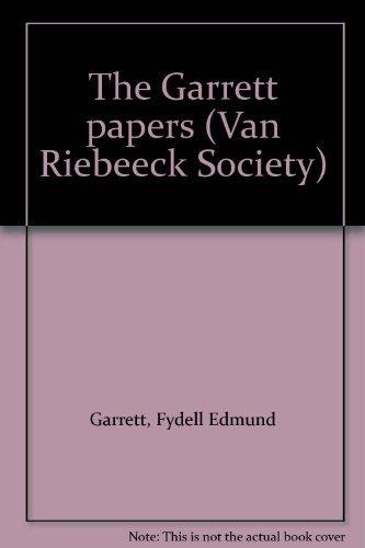 9780620082112: The Garrett papers (Van Riebeeck Society)