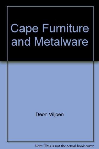 9780620269889: Cape furniture and metalware