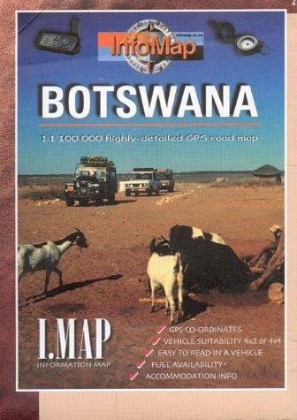 9780620279390: Botswana: Highly Detailed GPS Road Map