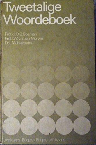 Tweetalige Woordeboek Afrikaans-Engels: D.B. Bosman
