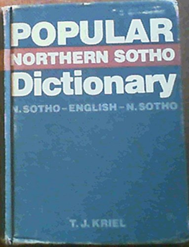 9780627009327: Popular Northern Sotho dictionary