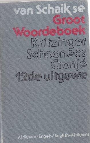 9780627010828: Groot Woorde-Boek Afrikaans Engels