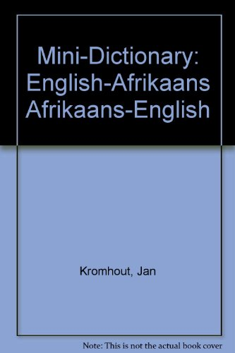 9780627018626: Mini-Dictionary: English-Afrikaans Afrikaans-English