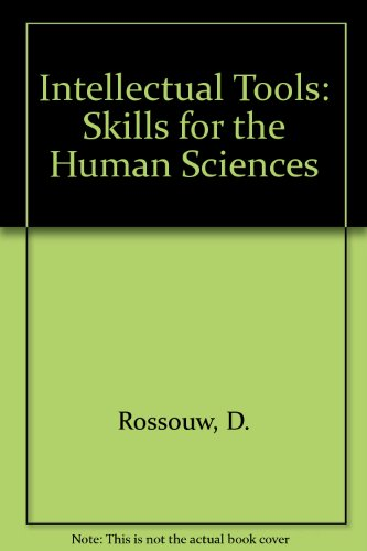 9780627025389: Intellectual Tools; Skills for the human sciences
