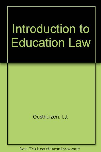 Introduction to Education Law (ISBN: 0627025811