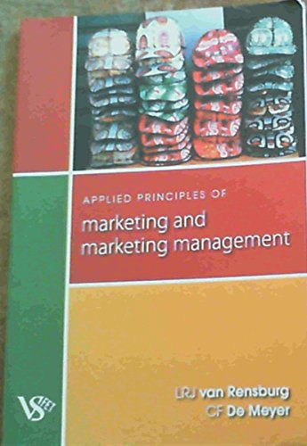9780627026935: Applied Principles of Marketing and Marketing Management