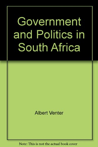 9780627028175: Government and Politics in South Africa
