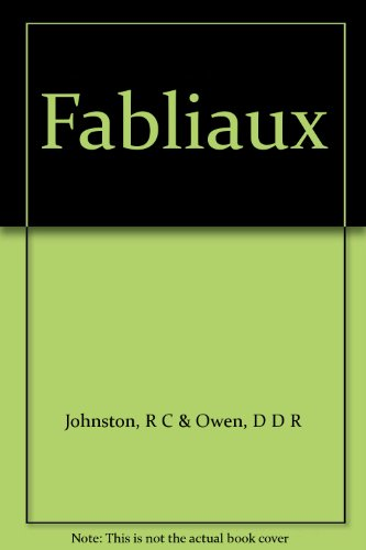 9780631005704: Fabliaux (French Texts)