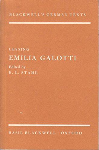 Emilia Galotti (German Texts): Lessing, Gotthold Ephraim