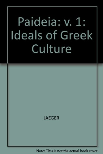 9780631026709: Paideia: Ideals of Greek Culture: v. 1