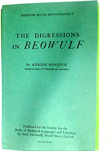 9780631033707: Digressions in 'Beowulf'
