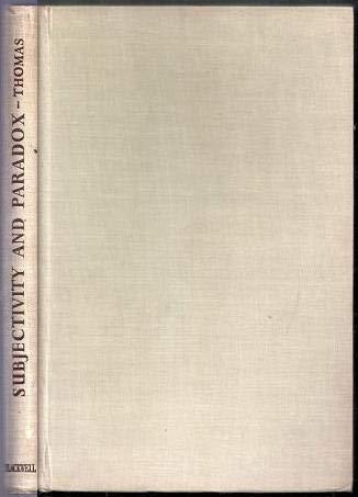 9780631051404: Subjectivity and Paradox: A Study of Kierkegaard.