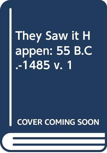 9780631052807: They Saw It Happen Vol. 1