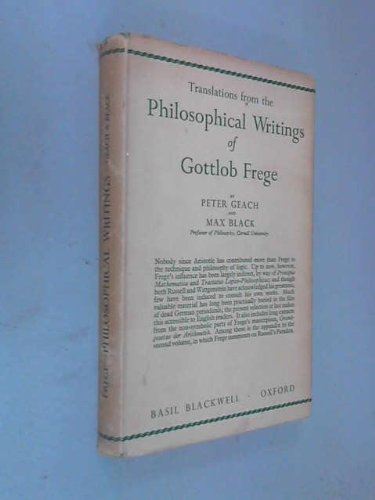 9780631058106: Translations from the Philosophical Writings of Gottlob Frege