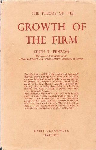 9780631058205: Theory of the Growth of the Firm