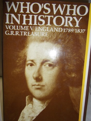 9780631062004: Who's Who in History Volume V: England 1789-1837
