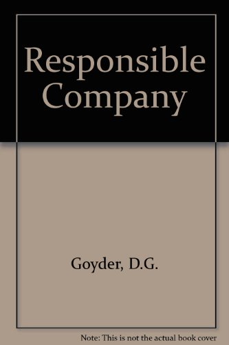 9780631070108: The Responsible Company