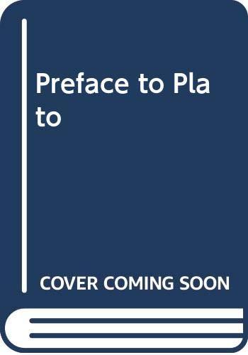9780631075509: Preface to Plato