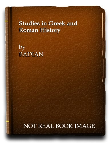 9780631081401: Studies in Greek and Roman History