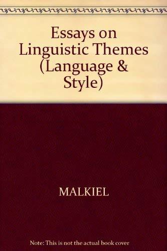 9780631082309: Essays on Linguistic Themes (Language & Style S.)