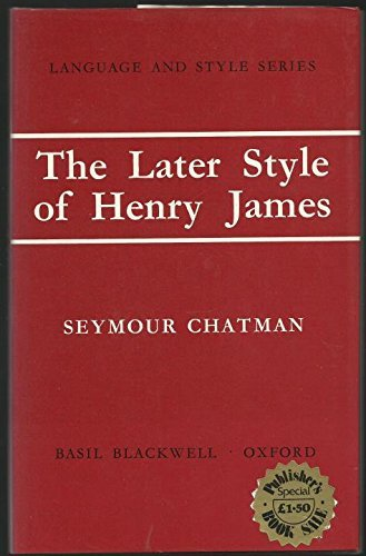 9780631082705: Later Style of Henry James (Language & Style)