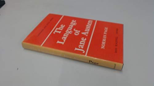 9780631082804: Language of Jane Austen (Language & Style)