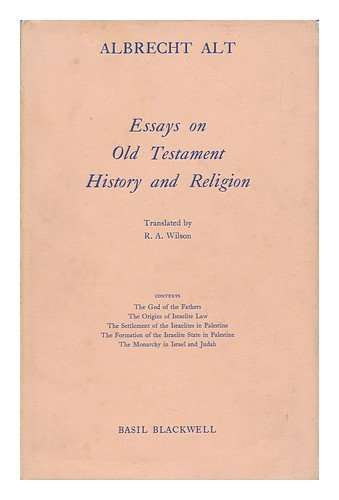 9780631096108: Essays on Old Testament History and Religion