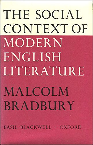 9780631097600: Social Context of Modern English Literature