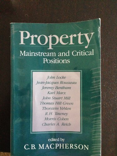 9780631102410: Property: Mainstream and Critical Positions
