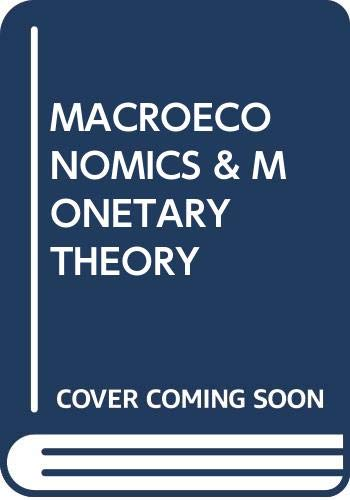 9780631105411: Macroeconomics and monetary Theory. (=Lectures in Economics, Volume 1).