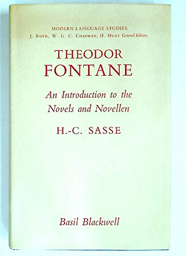 9780631110200: Theodor Fontane: An Introduction to the Novels and Novellen (Modern Language Study)
