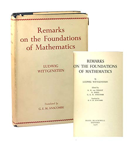9780631110309: Remarks On The Foundation Of Mathematics
