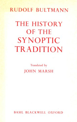 9780631113508: The History of Synoptic Tradition