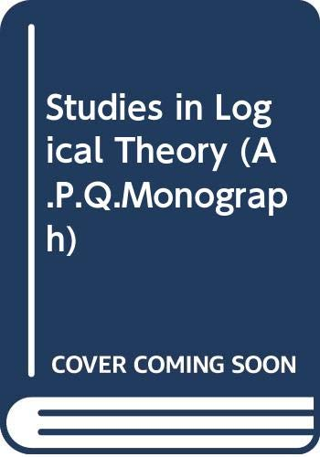 9780631114604: Studies in Logical Theory (A.P.Q.Monograph)
