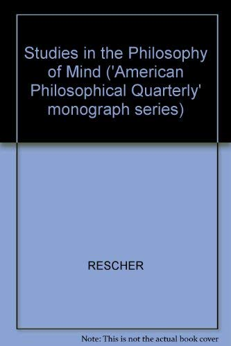 9780631115007: Studies in the Philosophy of Mind ('American Philosophical Quarterly' monograph series)