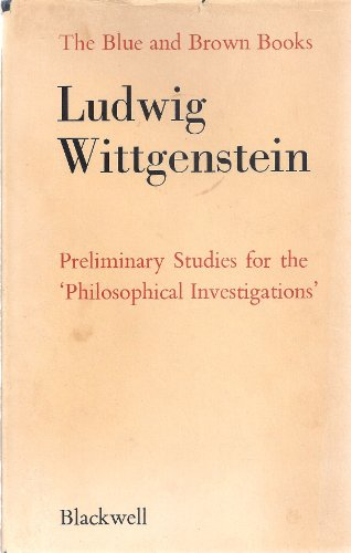 9780631118909: Blue and Brown Books: Preliminary Studies for the Philosophical Investigations