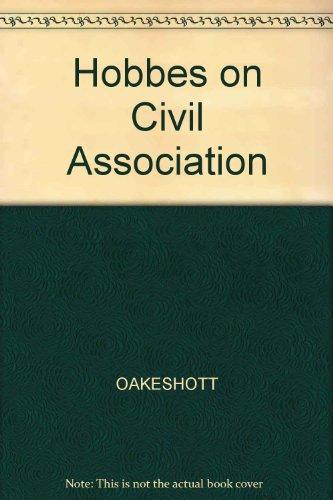 9780631119616: Hobbes on Civil Association