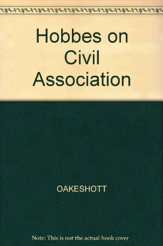 9780631119616: Hobbes on Civil Association