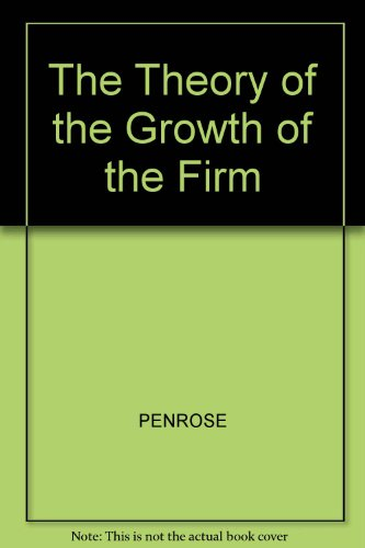 9780631122210: The Theory of the Growth of the Firm